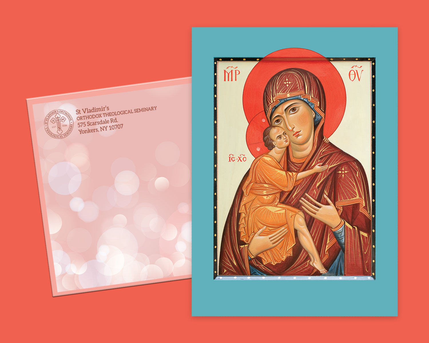 St. Vladimir's Seminary Christmas card and outer envelope