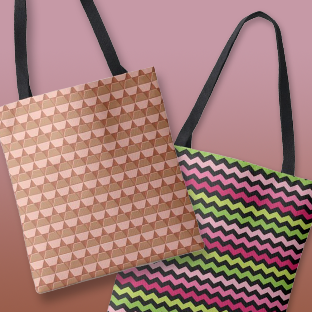 patterns-tote-bags